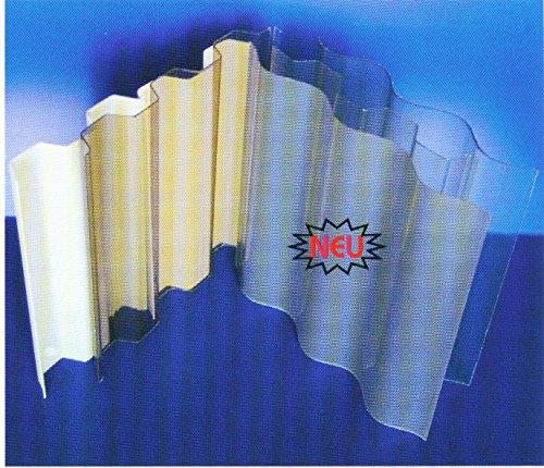 PVC - Ondex Lichtplatten Profil 70/18 Trapez (aus biaxial gerecktem PVC) - klar - 3000 x 1095 x 1,1 mm (EUR 18,90/qm)