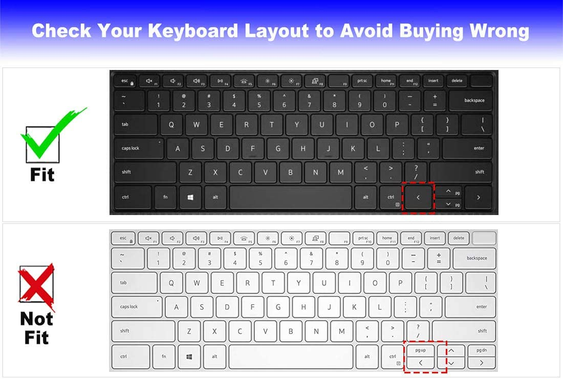 Keyboard Cover Design for 2021 2020 Dell XPS 15 9500 9510 15.6 Inch and New XPS 17 9700 9710 17.3 Inch US Layout Laptop Keyboard Protective Skin--Clear