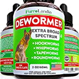 8 in 1 Dewormer for Dogs & Cats - Kills & Prevent Tapeworms - Roundworms - Hookworms - Whipworms - Natural Broad-Spectrum Formula - Senior Pets Puppy, Kitten - Supports Any Breed - Made in USA
