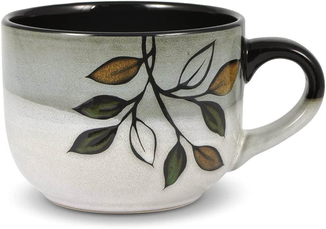 Pfaltzgraff Rustic Leaves Jumbo Soup Mug 26 Ounce