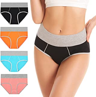 Sponsored Ad - Magipa Womens Cotton Underwear High Waist& Stretch & Breathable Cotton Briefs Soft and Comfortable Women's ...