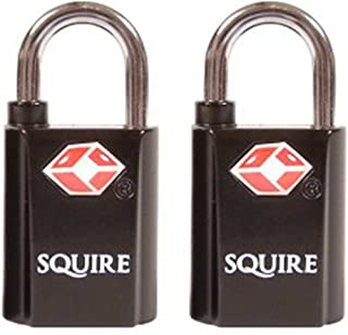 Pack of 2 keyed alike squire suitcase luggage locks.