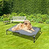 BABYLTRL Elevated Dog Bed Upgrade Dog Cot Bed Raised Dog Bed Pet Cot for Extra Large Medium Small Dogs, Multiple Sizes, Indoor & Outdoor Use, No-Slip Feet (Large Size )