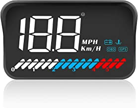 ACECAR Head Up Display Car Universal Dual System 3.5 Inches HUD, Speedometer OBD2 GPS Interface, Speed, Engine RPM, OverSp...