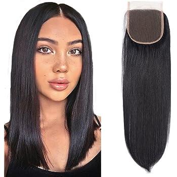 Amazon Com 9a Brazilian Straight Lace Closure 100 Human Hair Closure Straight Top Straight Closure Free Part 1b 10 Inch Beauty