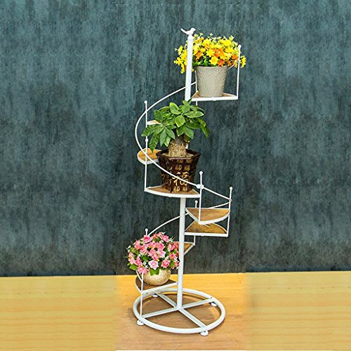 ZHEN GUO Escalera de Caracol de Metal Shapped Flower Racks M