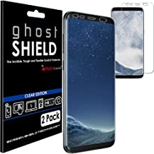 TECHGEAR [2 Pack] Screen Protectors to fit Samsung Galaxy S8 [ghostSHIELD Edition] Genuine Reinforced Flexible TPU Screen Protector Guard Covers with Full Screen Coverage inc Curved Screen