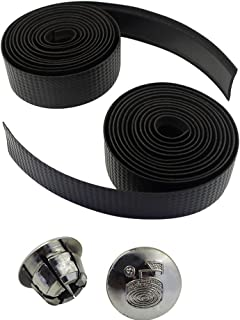Wolfride® High-end Carbon Fibre Bicycle Handle Bar Tape, Mountain Bike Non-slip Sweat Shock Absorber Bandage Wrapped Handlebar Tape