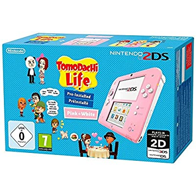 Nintendo 2DS - Console Pink + Tomodachi Life (Nintendo 3DS)