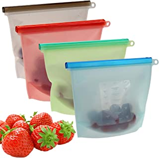 Szxc Silicone Food Storage Bags (4 Large)
