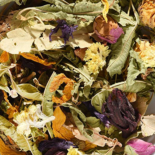 ✅ BLÜMLI-Tee • Blätter und Knospen • Hibiscusblüten, Verbene, Lindenblüten, Rosenknospen, Malvenblüten blau, Orangenblüten, Ringelblumenblüten, Sonnenblumenblüten, Katzenpfötchenblüten