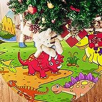 ツリースカート クリスマスツリースカート マルチ 恐竜世界 ホリデーデコレーション メリイクリスマス飾り 下敷物 可愛い 雰囲気 クリスマスパーティー 直径107cm