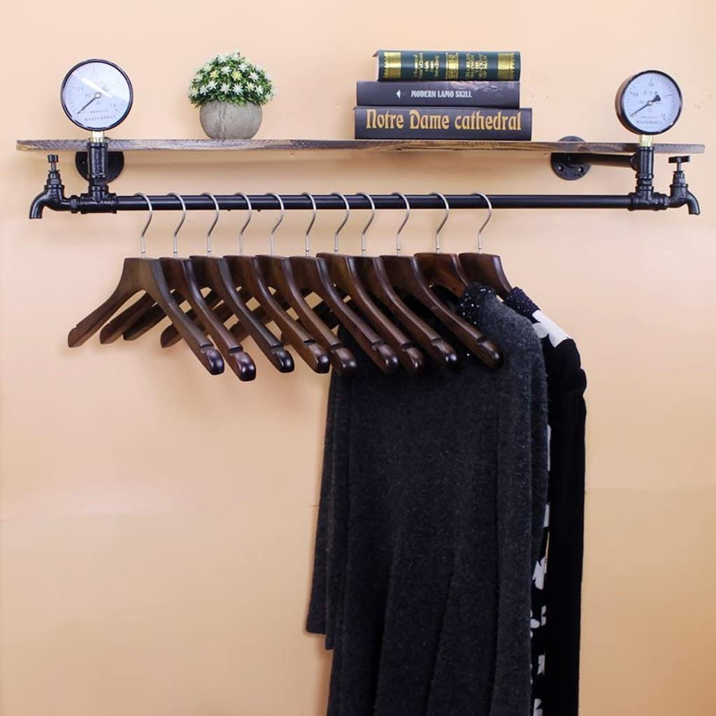 Daily bargain sale CDXZRZYH Plumbing Retro Iron Popular popular Wood Wall Do The Coat Mounted Rack