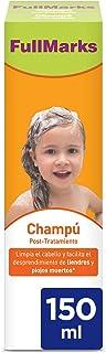 Full Marks Champú Post-Tratamiento Piojos Limpia el cabello y elimina los rastros de la lociónspray contra los piojos - ...