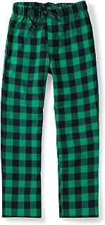 Men's Cotton Woven Pajama Lounge Pant, Plaid Soft Sleepwear