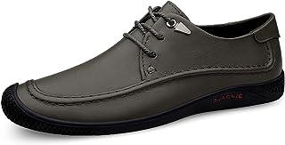 CAIFENG Oxfords Ocasionales Oxfords Ligero Lugares de Cuero Genuino Zapatos de Cuero de 3 Ojos Lace Up Collision Evitación...
