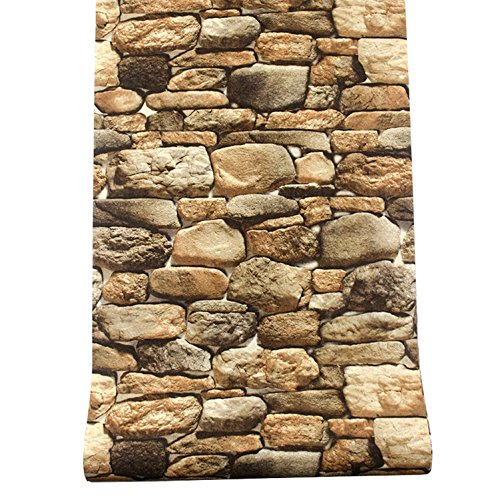 WAYMX Stereo 3D Retro Aufkleber / antike Steintapete / Rock-Muster Rock Wallpaper / Restaurant Café Hintergrund Wandbild Tapete , b