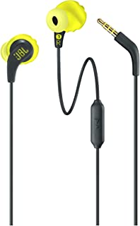 JBL ENDURRUNBNL Endurance Run Sweatproof Sport In-Ear Earphone - Yellow Green (Pack of1)