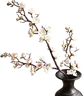 """FightingFly 4Pcs Artificial Cherry Blossom Flowers, 37"""" Plum Blossom Peach Branches Silk Tall Fake Flower Arrangements for..."""