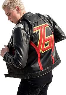 Men's Soldier 76 Black Leather Jacket