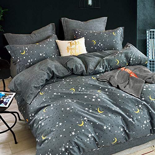 KEAYOO Bettwäsche 135x200 Baumwolle Sternen und Mond Muster Geeignet für Erwachsene sowie Mädchen und Jungen