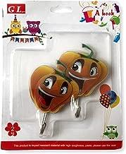 Wire Hooks, Decoratives, Set of 2 (Pumpkin)