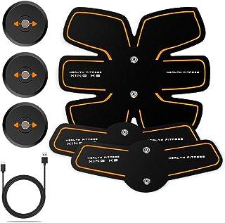 腹部筋肉トレーナーEMS腹部トレーナー筋肉刺激装置アブトーニングベルトウエストトレーナー腹サポートベルトジムトレーニングエクササイズマシンホームフィットネス (Color : Black, Size : D)