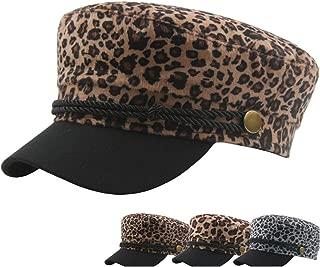 HaiNing Zheng Autumn Beret Cap Winter Women's Wool Men's Leopard Vintage Flat Top Navy Hat Street Influx