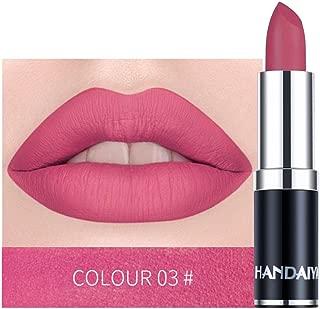 DEESEE(TM))) Long Lasting Lipstick 12Colors Waterproof Lipstick Matte Pumpkin Color Lipstick Eat Earth Rich Vitamin E Moistu