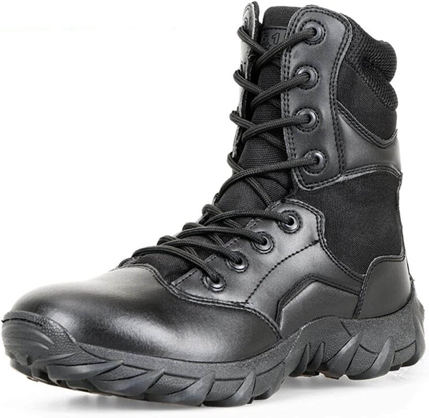 SUNNY American PU Boots Desert Boots Outdoor Boots Tooling Boots Black Safety (Size   EU39 UK6.5 CN40)