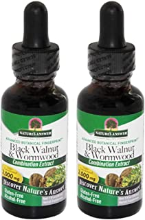 Nature's Answer Black Walnut and Wormwood, 1 Ounce each (Value Pack of 2)
