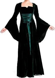 Green Medieval Renaissance Velvet Fancy Costume Gown