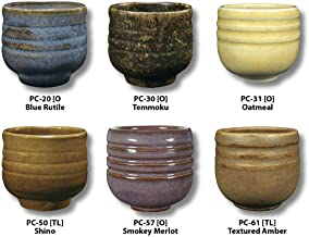AMACO 39182X Potters Choice Glazes, Set A, 1 Pint, Assorted Colors, Set of 6