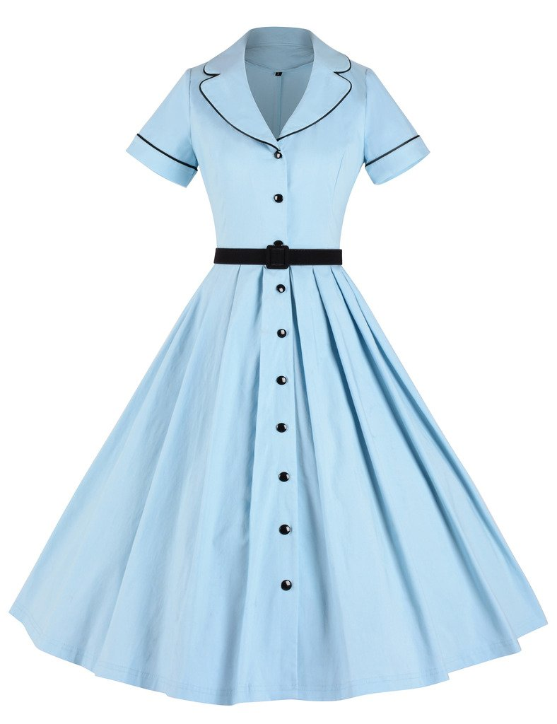 Available at Amazon: GownTown Women's 1950sVintage Classical Casual Swing A-line Dress