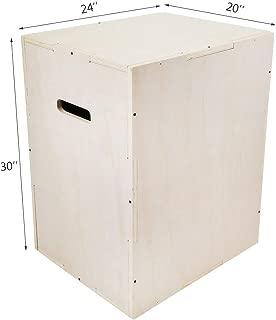 VEVOR 30x20x24 Wood Plyo Box 441LB Capacity Exercise Box Plyometric Jump Box with Internal Cross Bracing Plyo Box for Crossfit Training Plyometric Boxes for MMA or Plyometric Agility