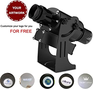 HENGGE 50W LED Logo GOBO Projector with Manual Zoom&Focus Including Free Custom Glass GOBO to Project Image