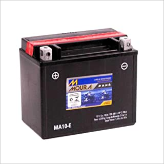 Bateria AGM Moto Moura 12V 10Ah MA10-E 400I PAGGIO GILERA RUNNER VESPA LX150 4T 946 BV350 POLARIS