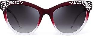 b308c16cbb JM Lujo Embellecer Ojos de Gato Gafas de Sol Gradiente Diseñador Sombras  Mujer UV400