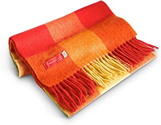 Soft and Warm Irish Wool Plaid Scarf for Men, 12