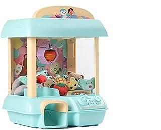 DIY doll machine children's coin game Mini claw toy crane music doll children's Christmas birthday gift Blue