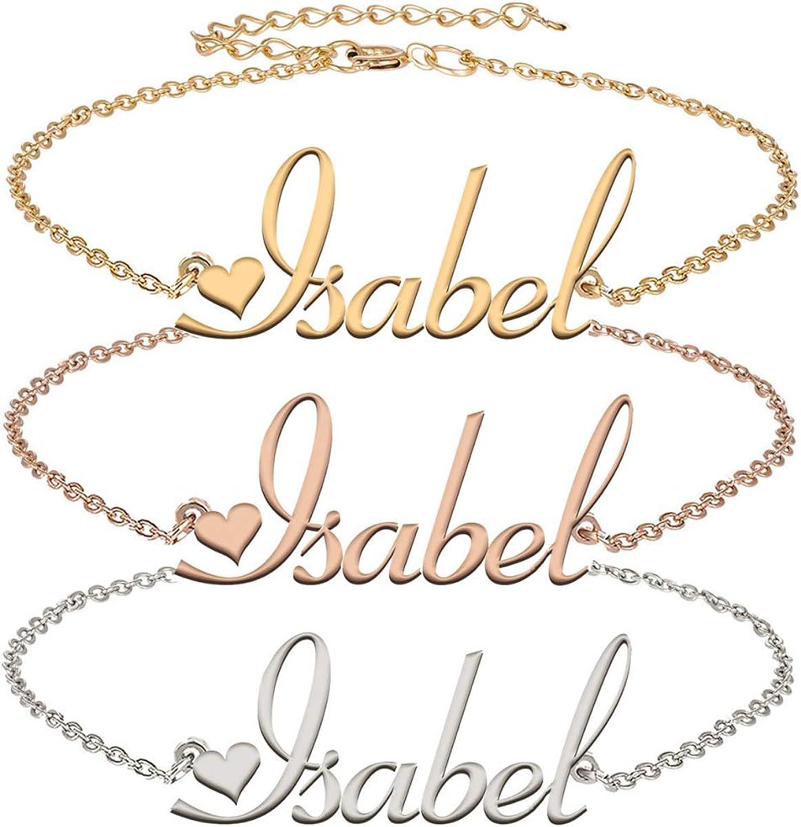 Aoloshow Personalized Cheap Name Necklace Bracelet Made latest Custom Nam Any