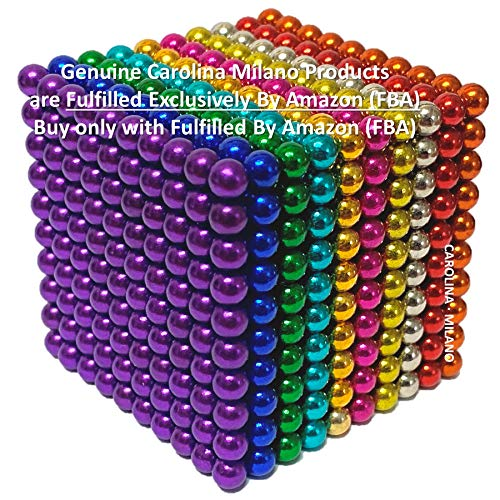 CAROLINA MILANO 1000 pcs 5mm 10 Colors Magnetic Balls Multicolored Large Cube Building Blocks Educational Game Fun Office Toy Intelligence Development Stress Relief Imagination - Color Variation A