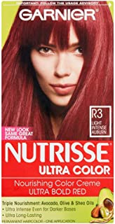 Garnier Nutrisse Ultra Color [R3] Light Intense Auburn 1 Each (Pack of 3)