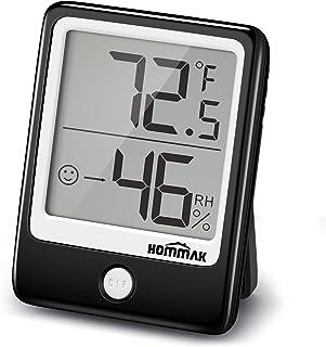 Hommak Mini Termómetro Higrómetro, Termohigrómetro interior, Medidor de Temperatura y Humedad para Medir Ambiente del Hoga...