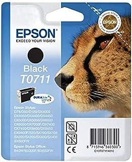 Epson T071 Serie Ghepardo, Cartuccia Originale Getto d'Inchiostro DURABrite Ultra, Formato Standard, Nero, con Amazon Dash...