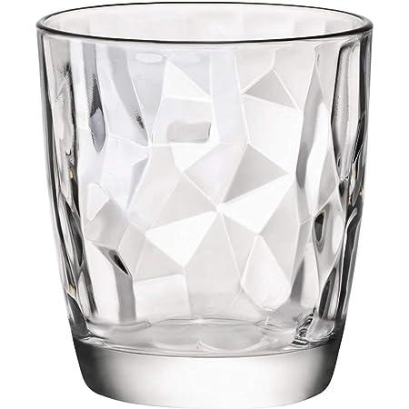 Bormioli Rocco 350200 Diamond Lot de 6 verres à eau en verre transparent 305 ml