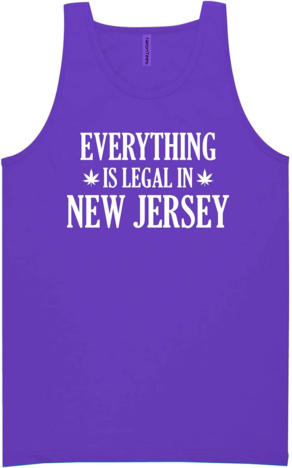 Everything is Legal in New Jersey Neon Purple Tank Top - XX-Large