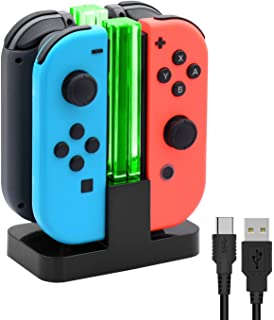 Charging Dock Compatible with Joycons controller, Charger Station Compatible with Nintendo Switch/Switch OLED Model Contro...