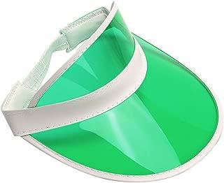 Retro Beach Colored Plastic Clear Sun Visor Hat