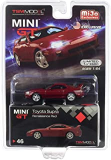 Toyota Supra (JZA80) LHD (Left Hand Drive) Renaissance Red Limited Edition to 3,600 Pieces 1/64 Diecast Model Car by True Scale Miniatures MGT00046